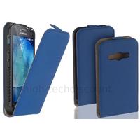 Housse etui coque pochette PU cuir fine pour Samsung G388F Galaxy Xcover 3 + film ecran - BLEU