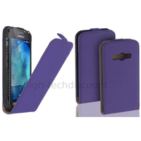 Housse etui coque pochette PU cuir fine pour Samsung G388F Galaxy Xcover 3 + film ecran - MAUVE