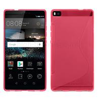 Housse etui coque pochette silicone gel fine pour Huawei Ascend P8 + film ecran - ROSE