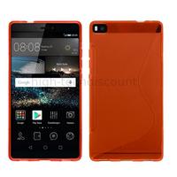 Housse etui coque pochette silicone gel fine pour Huawei Ascend P8 + film ecran - ROUGE