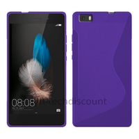 Housse etui coque pochette silicone gel fine pour Huawei Ascend P8 Lite + film ecran - MAUVE