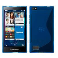 Housse etui coque pochette silicone gel fine pour Blackberry Leap + film ecran - BLEU