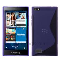 Housse etui coque pochette silicone gel fine pour Blackberry Leap + film ecran - MAUVE
