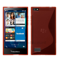 Housse etui coque pochette silicone gel fine pour Blackberry Leap + film ecran - ROUGE