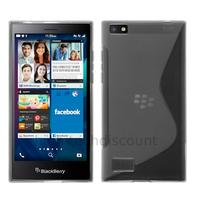 Housse etui coque pochette silicone gel fine pour Blackberry Leap + film ecran - TRANSPARENT