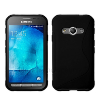 Housse etui coque pochette silicone gel fine pour Samsung G388F Galaxy Xcover 3 + film ecran - NOIR