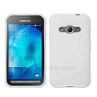Housse etui coque pochette silicone gel fine pour Samsung G388F Galaxy Xcover 3 + film ecran - BLANC