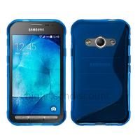 Housse etui coque pochette silicone gel fine pour Samsung G388F Galaxy Xcover 3 + film ecran - BLEU