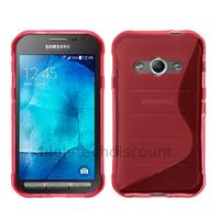 Housse etui coque pochette silicone gel fine pour Samsung G388F Galaxy Xcover 3 + film ecran - ROSE