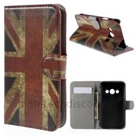 Housse etui coque pochette portefeuille PU cuir pour Samsung G388F Galaxy Xcover 3 + film ecran - UK