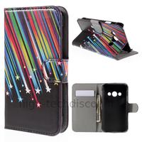 Housse etui coque pochette portefeuille PU cuir pour Samsung G388F Galaxy Xcover 3 + film ecran - ETOILES