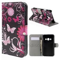 Housse etui coque pochette portefeuille PU cuir pour Samsung G388F Galaxy Xcover 3 + film ecran - FLEURS N