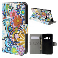 Housse etui coque pochette portefeuille PU cuir pour Samsung G388F Galaxy Xcover 3 + film ecran - FLEURS C