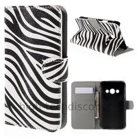 Housse etui coque pochette portefeuille PU cuir pour Samsung G388F Galaxy Xcover 3 + film ecran - ZEBRE