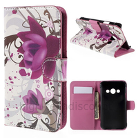 Housse etui coque pochette portefeuille PU cuir pour Samsung G388F Galaxy Xcover 3 + film ecran - LOTUS