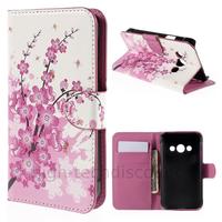 Housse etui coque pochette portefeuille PU cuir pour Samsung G388F Galaxy Xcover 3 + film ecran - CERISIER