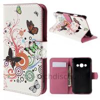 Housse etui coque pochette portefeuille PU cuir pour Samsung G388F Galaxy Xcover 3 + film ecran - PAPILLONS