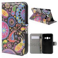 Housse etui coque pochette portefeuille PU cuir pour Samsung G388F Galaxy Xcover 3 + film ecran - PAISLEY