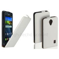 Housse etui coque pochette PU cuir fine pour Huawei Ascend Y635 + film ecran - BLANC