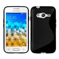 Housse etui coque pochette silicone gel fine pour Samsung G318H Galaxy Trend 2 Lite + film ecran - NOIR