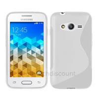 Housse etui coque pochette silicone gel fine pour Samsung G318H Galaxy Trend 2 Lite + film ecran - BLANC