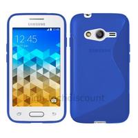 Housse etui coque pochette silicone gel fine pour Samsung G318H Galaxy Trend 2 Lite + film ecran - BLEU