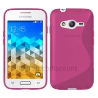 Housse etui coque pochette silicone gel fine pour Samsung G318H Galaxy Trend 2 Lite + film ecran - ROSE