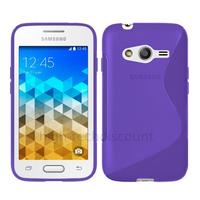 Housse etui coque pochette silicone gel fine pour Samsung G318H Galaxy Trend 2 Lite + film ecran - MAUVE