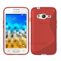Housse etui coque pochette silicone gel fine pour Samsung G318H Galaxy Trend 2 Lite + film ecran - ROUGE