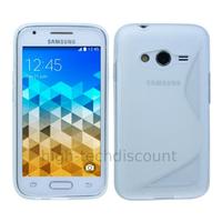 Housse etui coque pochette silicone gel fine pour Samsung G318H Galaxy Trend 2 Lite + film ecran - TRANSPARENT