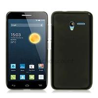 Housse etui coque pochette silicone gel fine pour Alcatel One Touch Pixi 3 (4.5) + film ecran - NOIR