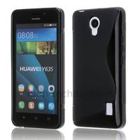Housse etui coque pochette silicone gel fine pour Huawei Ascend Y635 + film ecran - NOIR