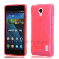 Housse etui coque pochette silicone gel fine pour Huawei Ascend Y635 + film ecran - ROSE