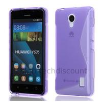 Housse etui coque pochette silicone gel fine pour Huawei Ascend Y635 + film ecran - MAUVE