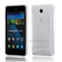 Housse etui coque pochette silicone gel fine pour Huawei Ascend Y635 + film ecran - TRANSPARENT