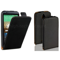 Housse etui coque pochette PU cuir fine pour HTC Desire 510 + film ecran - NOIR