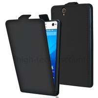 Housse etui coque pochette PU cuir fine pour Sony Xperia C4 / C4 Dual + film ecran - NOIR