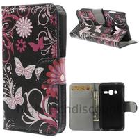 Housse etui coque portefeuille PU cuir pour Samsung G318H Galaxy Trend 2 Lite + film ecran - FLEURS N