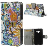 Housse etui coque portefeuille PU cuir pour Samsung G318H Galaxy Trend 2 Lite + film ecran - FLEURS C