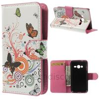 Housse etui coque portefeuille PU cuir pour Samsung G318H Galaxy Trend 2 Lite + film ecran - PAPILLONS