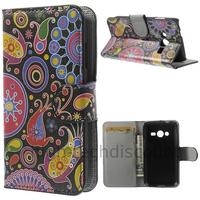 Housse etui coque portefeuille PU cuir pour Samsung G318H Galaxy Trend 2 Lite + film ecran - PAISLEY