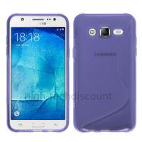 Housse etui coque pochette silicone gel fine pour Samsung Galaxy J7 + film ecran - MAUVE