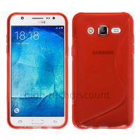 Housse etui coque pochette silicone gel fine pour Samsung Galaxy J5 + film ecran - ROUGE