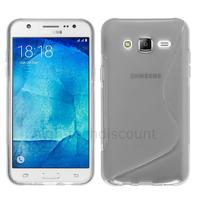 Housse etui coque pochette silicone gel fine pour Samsung Galaxy J7 + film ecran - TRANSPARENT