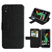 Housse etui coque pochette portefeuille pour Wiko Rainbow Up 4G + film ecran - NOIR
