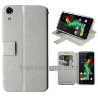 Housse etui coque pochette portefeuille pour Wiko Rainbow Up 4G + film ecran - BLANC