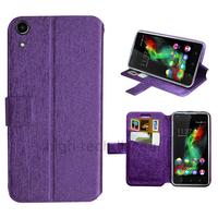 Housse etui coque pochette portefeuille pour Wiko Rainbow Up 4G + film ecran - MAUVE