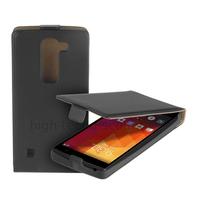 Housse etui coque pochette PU cuir fine pour LG Spirit 4G LTE  + film ecran - NOIR