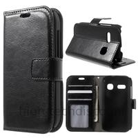 Housse etui coque portefeuille PU cuir pour Alcatel One Touch Pop C3 4033D + film ecran - NOIR