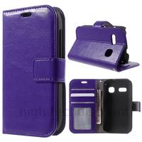 Housse etui coque portefeuille PU cuir pour Alcatel One Touch Pop C3 4033D + film ecran - MAUVE